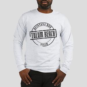 Tulum Beach Title Long Sleeve T-Shirt