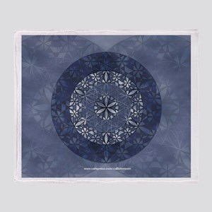 Sacred Geometry in Blue Throw Blanket