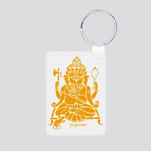 Jai Ganesh Aluminum Photo Keychain