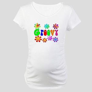 Retro Vintage 70's Maternity T-Shirt