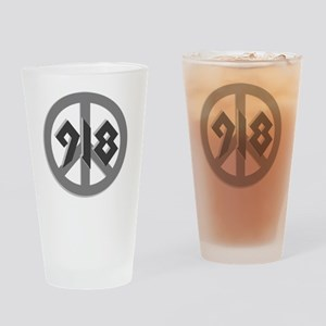 Shades of Gray 918 Peace Pint Glass