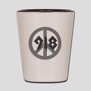 Shades of Gray 918 Peace Shot Glass