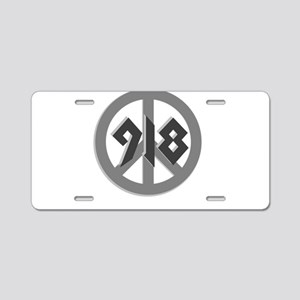 Shades of Gray 918 Peace Aluminum License Plate