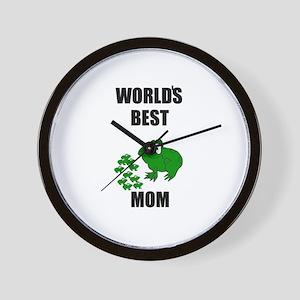 WORLD'S BEST MOM (FROGS) Wall Clock