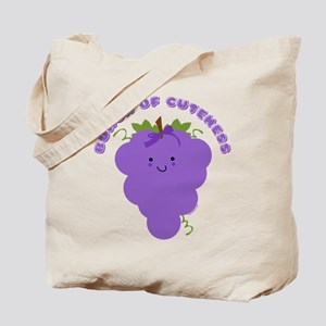 Cute Kawaii Grapes Tote Bag