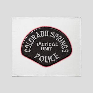 Colorado Springs Police Tac U Throw Blanket