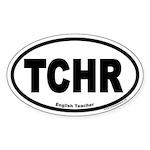 English Teacher TCHR Euro Oval Sticker