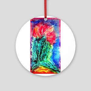 Cactus, bright, art, Ornament (Round)