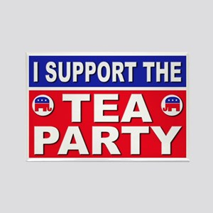I Support the Tea Party Rectangle Magnet