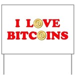 Bitcoins-4 Yard Sign