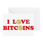 Bitcoins-4 Greeting Cards (Pk of 10)