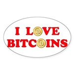 Bitcoins-4 Sticker (Oval)