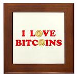 Bitcoins-4 Framed Tile