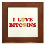 Bitcoins-4 Framed Tile