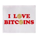Bitcoins-4 Throw Blanket