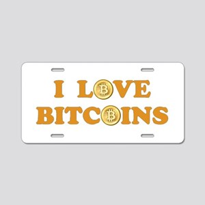 Bitcoins-6 Aluminum License Plate