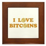 Bitcoins-6 Framed Tile