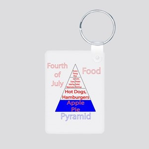 Fourth of July Food Pyramid Aluminum Photo Keychai