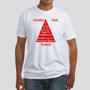 Canadian Food Pyramid Fitted T-Shirt