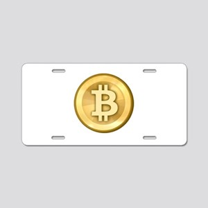 Bitcoins-5 Aluminum License Plate