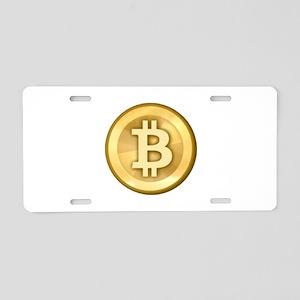 Bitcoin aluminum license plates cafepress bitcoins 5 aluminum license plate ccuart Images