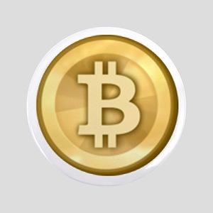 """Bitcoins-5 3.5"""" Button"""