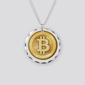 Bitcoins-5 Necklace Circle Charm