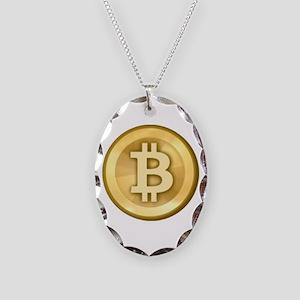 Bitcoins-5 Necklace Oval Charm