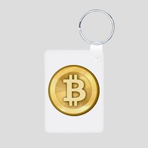 Bitcoins-5 Aluminum Photo Keychain
