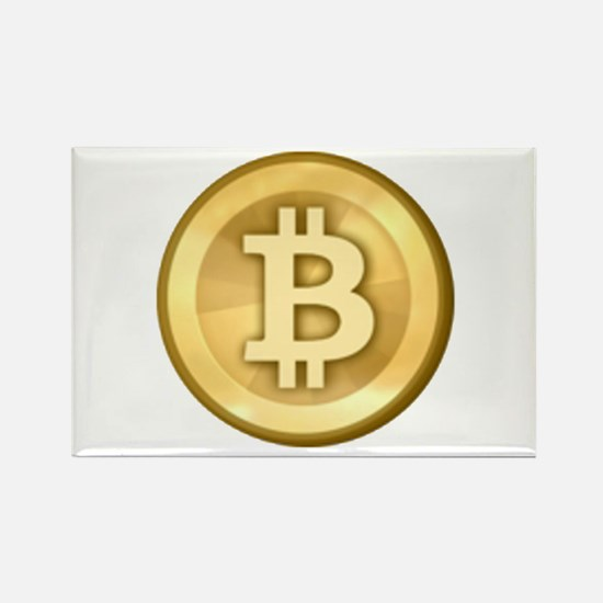 Bitcoins-5 Rectangle Magnet