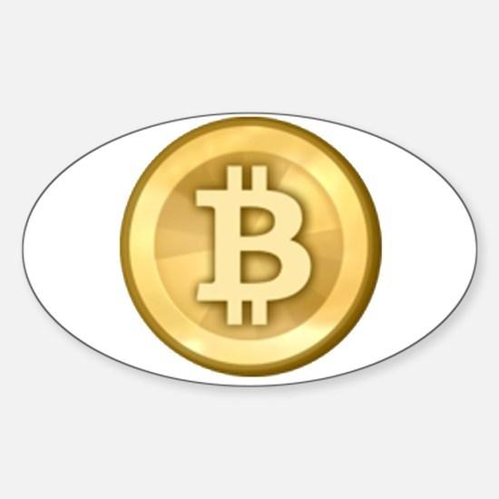 Bitcoins-5 Sticker (Oval)