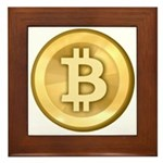 Bitcoins-5 Framed Tile