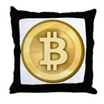 Bitcoins-5 Throw Pillow