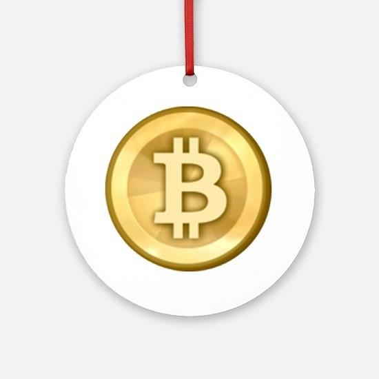 Bitcoins-5 Ornament (Round)