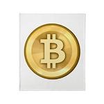 Bitcoins-5 Throw Blanket
