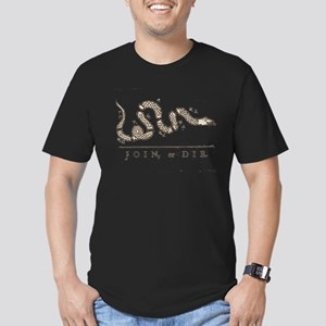 Join or Die Snake Men's Fitted T-Shirt (dark)