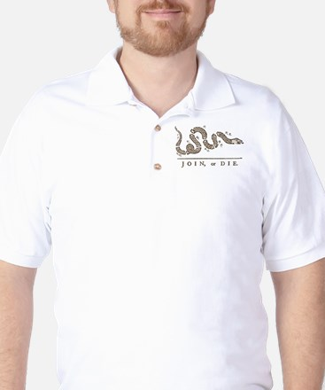 Join or Die Snake Golf Shirt