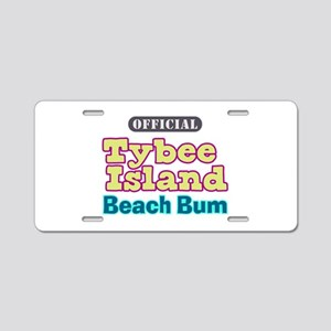 Tybee Island Beach Bum - Aluminum License Plate
