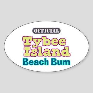 Tybee Island Beach Bum - Sticker (Oval)