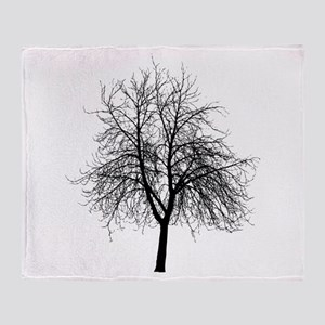Tree Silhouette Throw Blanket