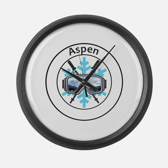 Cool Winter sports Large Wall Clock