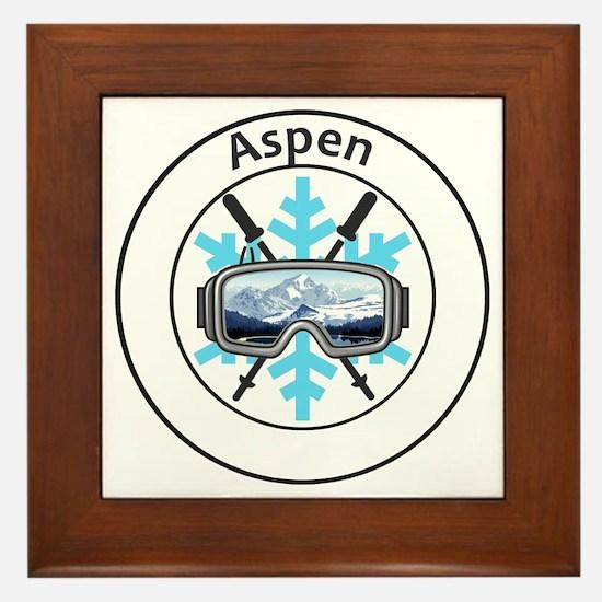 Cute Aspen Framed Tile