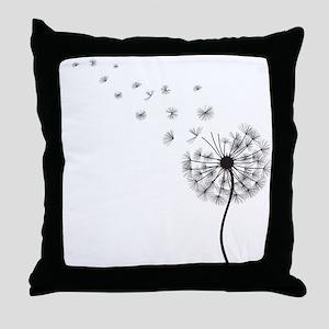 Blowing Dandelion Throw Pillow