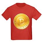 Bitcoins-1 Kids Dark T-Shirt