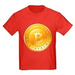 Bitcoins-1 Kids Dark T-Shirt