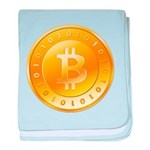 Bitcoins-1 baby blanket