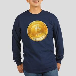 Bitcoins-1 Long Sleeve Dark T-Shirt