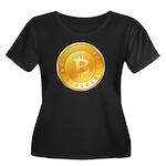 Bitcoins-1 Women's Plus Size Scoop Neck Dark T-Shi