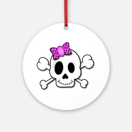 Cute Skull Ornament (Round)