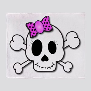 Cute Skull Throw Blanket